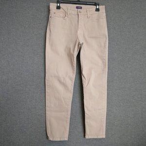NYDJ Ankle Stretch Pants Sz 6 Tan